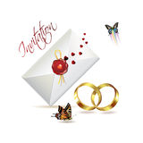 De kaart van het huwelijk Royalty-vrije Stock Afbeeldingen