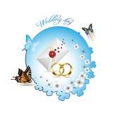 De kaart van het huwelijk Royalty-vrije Stock Afbeelding
