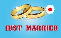 De kaart van het huwelijk Stock Fotografie