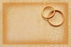 De kaart van het huwelijk grunge Stock Afbeeldingen