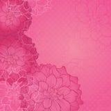 De kaart van het huwelijk of uitnodiging met abstracte bloemenachtergrond Vector illustratie Dahlia Flowers Royalty-vrije Stock Foto