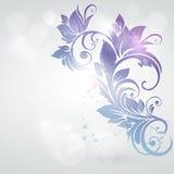 De kaart van de uitnodiging met bloemenachtergrond. Royalty-vrije Stock Foto's
