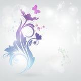De kaart van de uitnodiging met bloemenachtergrond. Royalty-vrije Stock Fotografie
