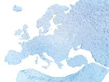 De Kaart van het Ijs van Europa Stock Afbeeldingen