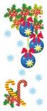 De kaart van het Kerstmismalplaatje. Stock Foto