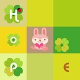 De kaart van het konijn Stock Foto