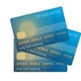 De kaart van het krediet of van het debet Stock Foto's