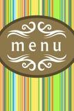 De kaart van het menu Stock Foto