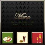 De Kaart van het menu Stock Fotografie