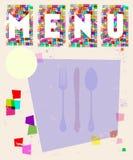 De kaart van het menu, ontwerpmalplaatje stock illustratie