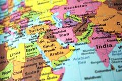 De kaart van het Midden-Oosten royalty-vrije stock foto