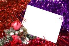 De kaart van het nieuwjaar Royalty-vrije Stock Foto
