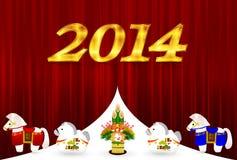 De kaart van het nieuwjaar Stock Foto's