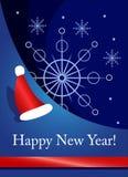 De kaart van het nieuwjaar Stock Fotografie