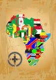De kaart van het overzicht van Afrika Stock Afbeelding
