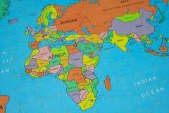 De Kaart van het raadsel (Afrika) Stock Foto
