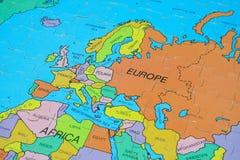 De Kaart van het raadsel (Europa) Royalty-vrije Stock Afbeeldingen