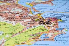 De kaart van het Rio de Janeiro. Stock Foto's
