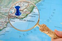 De kaart van het Rio de Janeiro Stock Foto's