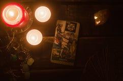 De Kaart van het tarot Toekomstige lezing divination Stock Afbeeldingen