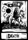 De Kaart van het Tarot van de dood Stock Fotografie