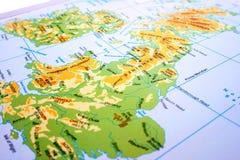 De kaart van het Verenigd Koninkrijk Stock Fotografie