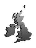 De kaart van het Verenigd Koninkrijk royalty-vrije illustratie