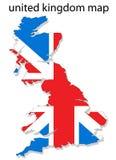 De kaart van het Verenigd Koninkrijk Royalty-vrije Stock Foto