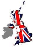 De Kaart van het Verenigd Koninkrijk Royalty-vrije Stock Foto's