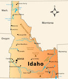 De Kaart van Idaho Stock Foto's