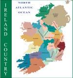 De kaart van Ierland. Royalty-vrije Stock Afbeeldingen