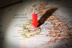 De Kaart van Ierland Stock Foto