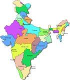 De kaart van India Royalty-vrije Stock Foto