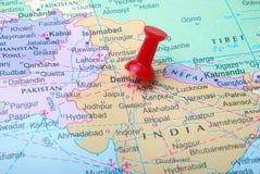 De kaart van India Stock Afbeelding