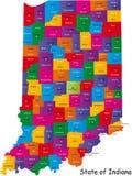 De kaart van Indiana Royalty-vrije Stock Foto