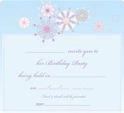 De kaart van Invitaion stock fotografie