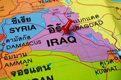 De kaart van Irak Royalty-vrije Stock Afbeelding