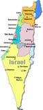De kaart van Israël Royalty-vrije Stock Afbeelding