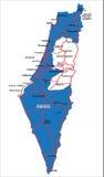 De kaart van Israël die op wit wordt geïsoleerdp Stock Fotografie