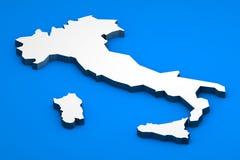 De kaart van Italië Stock Foto's