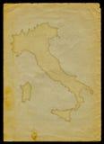 De kaart van Italië op oud document Royalty-vrije Stock Foto