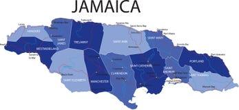 De Kaart van Jamaïca. royalty-vrije illustratie