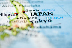 De Kaart van Japan Stock Foto