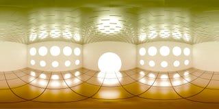 de kaart van 4K HDRI, de sferische achtergrond van het milieupanorama, moderne binnenlandse lichtbron 3d equirectangular geeft te stock illustratie