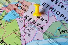 De kaart van Kenia Stock Afbeeldingen