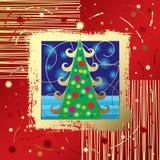 De kaart van Kerstmis & van het Nieuwjaar stock illustratie