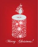 De kaart van Kerstmis canddle Stock Foto's