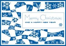 De kaart van Kerstmis en van het Nieuwjaar Stock Fotografie