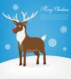 De kaart van de Kerstmisgroet met Vrolijke Kerstmiswensen Vector Royalty-vrije Stock Foto's