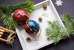 De kaart van de Kerstmisvakantie Royalty-vrije Stock Afbeeldingen